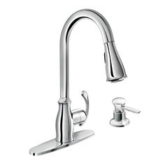 Kipton chrome one-handle high arc pulldown kitchen faucet - 87910