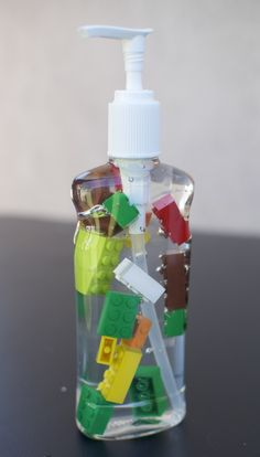 Lego birthday party | decorate the soap for the guest bathroom