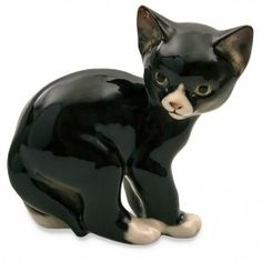 Imperial Porcelain Factory, formerly Lomonosov, Black Cat Figurine