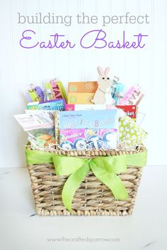 from - {The Crafted Sparrow} Just in case the Easter bunny needs a little help at your house. Building the Perfect Easter Basket April Easter, Happy Easter, Easter Bunny, Easter 2014, Holiday Festival, Holiday Fun, Holiday Ideas, Easter Crafts, Crafts For Kids