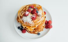 Pancakes, Breakfast, Ethnic Recipes, Food, Morning Coffee, Meal, Crepes, Essen, Pancake