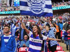 QPR fans at the Championship Play-Off