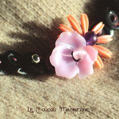 Girocollo con bottoni e fiori vintage - Linea Flower Power - C.5.16, by Le coucou magnifique, 15,00 € su misshobby.com