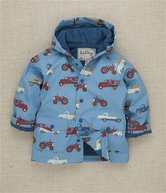 Hatley Store: Hatley Farm Trucks Boys' Raincoat