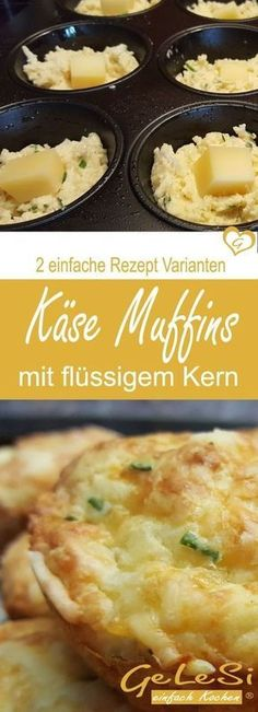 Cheese Muffins Two Simple Basic Recipes - Made Easy and Fast .- Käsemuffins zwei einfache Grund Rezepte – schnell gemacht und unglaublich lecker ❤ Recipe for cheese muffins in two variants - Party Finger Foods, Snacks Für Party, Fingers Food, Baking Recipes, Pizza Recipes, Cake Recipes, Easy Brunch Recipes, Good Food, Yummy Food