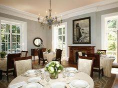 Gray dinning room