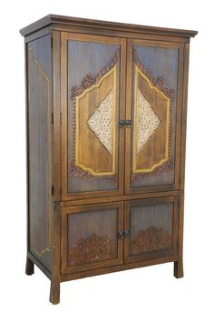 A PROVINCIAL THAI STYLE ARMOIRE STORAGE CABINET : Lot 219