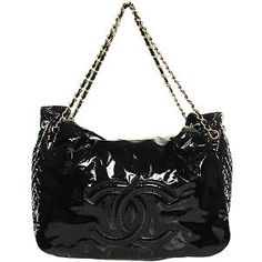 Chanel 'Rock and Chain' Large Patent Flap  Tote Handbag