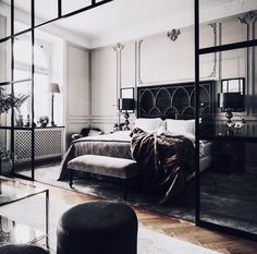 Decorate your bedroom for romance! Want to spice up your bedroom to let some romance in? Decorating your bedroom for romance doesn't even have to be difficult or expensive. Home Bedroom, Modern Bedroom, Bedroom Decor, Bedroom Interiors, Bedroom Furniture, Bedroom Ideas, Art Interiors, Bedroom Curtains, Bedroom Styles