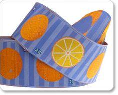 Purple Oranges Ribbon - Laura Foster Nicholson