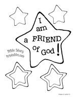 I am a friend of God crown and free printable color page