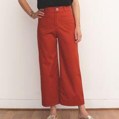 GASTON Trousers PDF avec notre gabardine rouille .