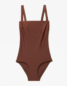Swimwear & Beachwear for Women : Matteau Swim Square Maillot in Cocoa Look Magazine, Cute Swimsuits, Trendy Swimwear, Beachwear For Women, Lingerie, One Piece Swimsuit, Bathing Suits, Personal Style, Summer Outfits