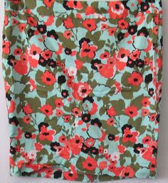 Lane Bryant Plus Size Mint Green Olive Green and Coral Floral Pencil Skirt  20 #LaneBryant #StraightPencil