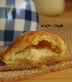 Food for thought: Τυροπιτάκια κουρού Greek Recipes, Pie Recipes, Cooking Recipes, Cookie Desserts, Food For Thought, Cooking Time, Hot Dog Buns, Holiday Parties, Food Inspiration