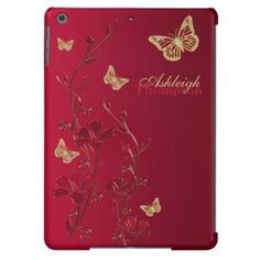 Red and Gold Butterfly Floral iPad Air Case In our offer link above you will seeHow to          	Red and Gold Butterfly Floral iPad Air Case please follow the link to see fully reviews...