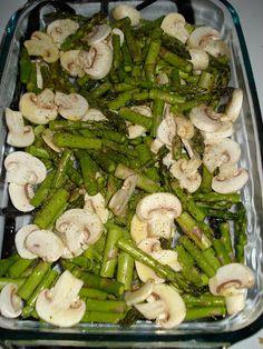Roasted Asparagus & Mushrooms #recipe #asparagus #food #healthy