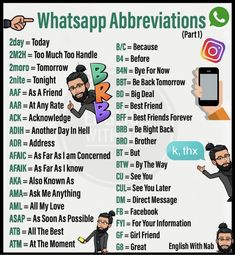Abbreviations and acronyms are shortened forms of words or phrases. An abbreviation is typically a shortened form of words used to represent the whole (such as Dr.) while an acronym contai… English Learning Spoken, Teaching English Grammar, English Writing Skills, English Language Learning, English Conversation Learning, Whatsapp Smiley, Whatsapp Text, Interesting English Words, Learn English Words