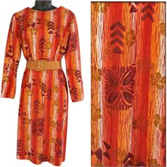 50% off until August 3rd at 8:00 am PST 1960s Vintage Hawaiian Tiki Wiggle Dress Size Large