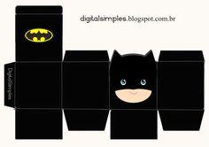 - Batman Printables - Ideas of Batman Printables - Free Printable Superheroes Cube Boxes. Fiesta Batman Lego, Lego Batman Party, Batman Birthday, Superhero Birthday Party, Boy Birthday, Birthday Parties, Logo Super Heros, Batman And Batgirl, Batman Mask