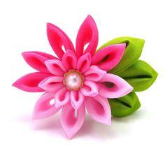 178 best silk flowers images on pinterest paper flowers folding kanzashi tutorial crafts ideas crafts for kids fabric flower mightylinksfo