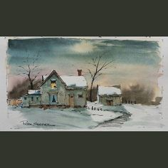 Latest video posted on YouTube. Farmhouse on a Winter Night.   Link to my YouTube Channel is in my bio or Cut and Paste:        https://m.youtube.com/c/petersheelerart  #Video #youtube #youtubers #landscape #art #original #watercolor #winsorandnewton #watercolour #painting #paintingaday #penandink     #architecture #ink #moleskine_arts  #canada #ImagesofCanada #farm #countryside #farmhouse  #winter #snow #moon #moonlight