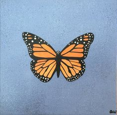 Drawing Monarch Butterfly Painting on Gallery Wrapped Canvas 88 Acrylic Painting Ideas acrylic painting ideas Butterfly Canvas drawing Gallery Monarch Painting wrapped Simple Canvas Paintings, Easy Canvas Art, Small Canvas Art, Easy Canvas Painting, Mini Canvas Art, Cute Paintings, Canvas Canvas, Chalk Painting, Body Painting