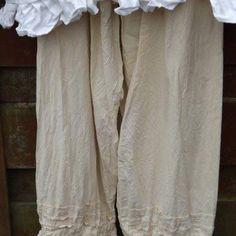 4cd94636e5 Pintuck Linen Pants Prairie RitaNoTiara Southern Gothic Couture boho