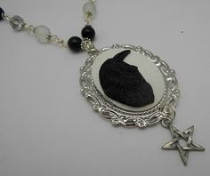 Pentacle of the Raven  necklace wiccan jewellery, pagan, Goddess, metaphysical, witchcraft jewellery,wiccan jewelry by CrysalMoonGiftss on Etsy