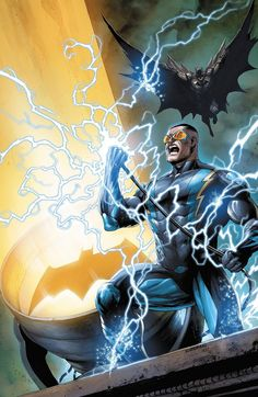 DC Comics - Batman and Black Lightning Batman Vs, Spiderman, Batman The Dark Knight, Dc Universe, Batman Universe, Lego Dc Comics, Arte Dc Comics, Comic Book Artists, Comic Books Art