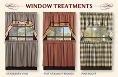 Primitive Home Decor - Primitive Curtains, Braided Rugs, Quilted Bedding and Country Kitchen Decor