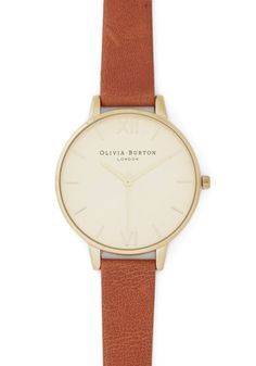 Time Floats By Watch in Gold. Youre on a cloud of stylish enchantment as you daydream wearing this leather watch from Olivia Burton! #brown #modcloth
