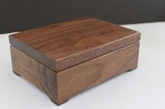 Keepsake Box Custom Engraved Wood Box Walnut Keepsake Box