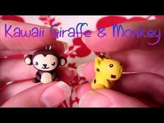 Kawaii Giraffe & Monkey Tutorial: Polymer Clay