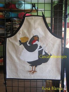 chicken chef applique