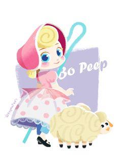 Disney Toys, Disney Fun, Disney Magic, Disney Pixar, Disney Stuff, Arte Disney, Disney Fan Art, Bo Peep Toy Story, Dibujos Toy Story