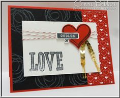 Snuggles and Smooches came out to play again for the Create with Connie and Mary sketch challenge!  Valentine, Hearts, Love, Stampin' Up!, #stampinup, Connie Babbert, www.inkspiredtreasures.com