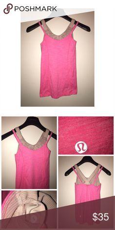 Lululemon Active Tank Pre•loved Lululemon Active Tank • Size 2 • Pink color • Excellent condition lululemon athletica Tops