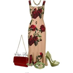 6/27/15 by longstem on Polyvore featuring moda, Dolce&Gabbana, 1928, Kate Spade and Christian Louboutin