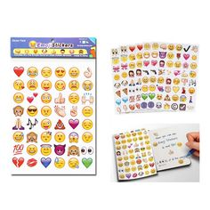 4 unids/lote conteniendo 96 Emoji Emoji expresión pegatinas adheridas a la cara de la pared 50% de descuento
