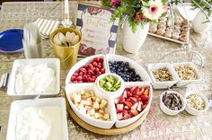 I love this super easy brunch idea - a yogurt parfait bar!