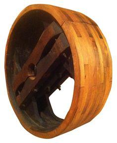 VandM - Vintage wooden pulley