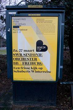 Muziekgebouw aan 't IJ  design by silodesign  (found on Posters in Amsterdam by Jarr Geerligs)