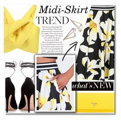 """Midi-Skirt Trend"" by anilovic ❤ liked on Polyvore featuring Alice + Olivia, Valentino, Delpozo and Prada"