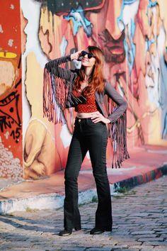 Look do dia: Jaqueta de franjas | Just Lia