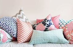 colorful, patterned pillows