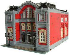 Central station :: My LEGO creations. Special MOC to celebrate my post on Eurobricks (Terminus of the line, CC-style) Gare Lego, Lego Train Station, Lego Trains, Lego Blocks, Lego Modular, Lego Worlds, Cool Lego Creations, Lego Architecture, Lego Projects