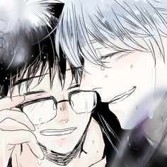 Victor and Yuuri - Yuri!!! on Ice by 神田@ついった on pixiv (id 5425507)