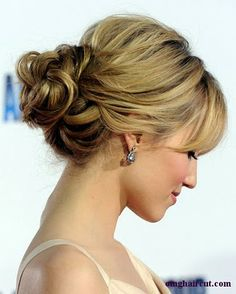Another updo for short hair