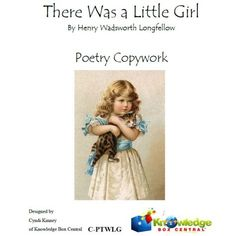 There Was a Little Girl - Poetry Copywork FREE! from sponsor @educents #afflink